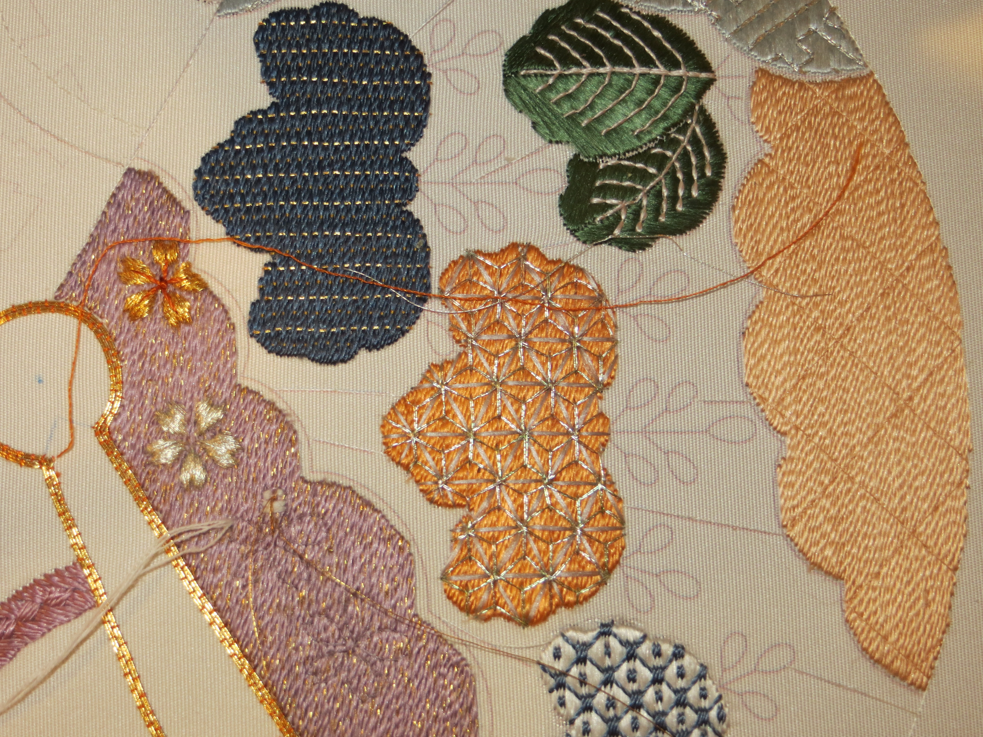 Day japanese embroidery and beading class quail run
